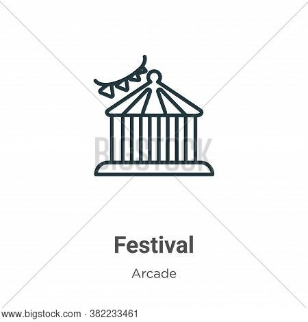 Festival icon isolated on white background from entertainment collection. Festival icon trendy and m