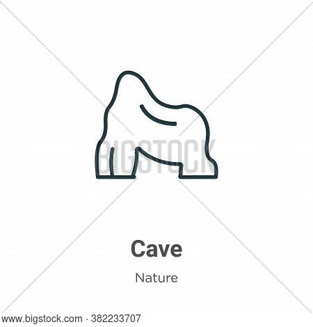 Cave icon isolated on white background from nature collection. Cave icon trendy and modern Cave symb