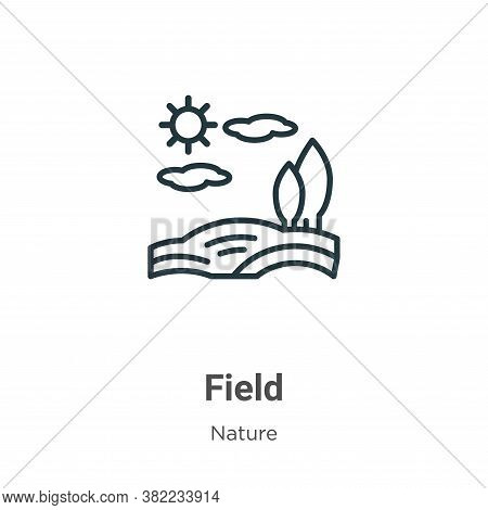 Field icon isolated on white background from nature collection. Field icon trendy and modern Field s