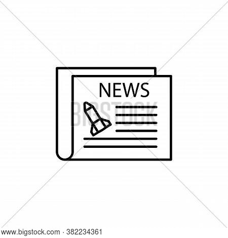 Galactic Newspaper Line Icon. Signs And Symbols Can Be Used For Web, Logo, Mobile App, Ui, Ux