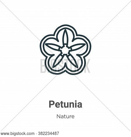 Petunia icon isolated on white background from nature collection. Petunia icon trendy and modern Pet