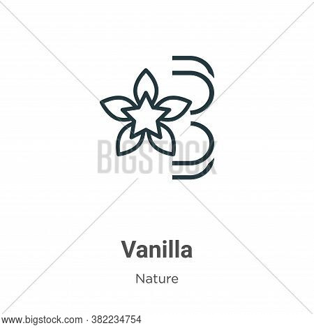 Vanilla icon isolated on white background from nature collection. Vanilla icon trendy and modern Van