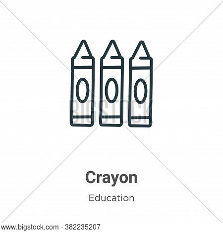 Crayon icon isolated on white background from education collection. Crayon icon trendy and modern Cr