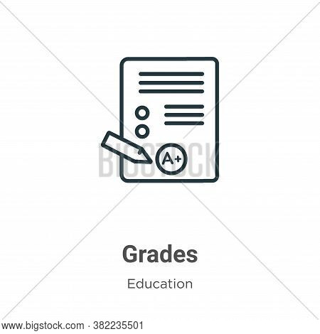Grades Icon From Online Learning Collection Isolated On White Background.