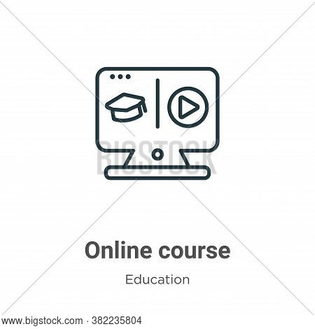 Online course icon isolated on white background from online learning collection. Online course icon