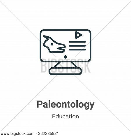 Paleontology icon isolated on white background from online learning collection. Paleontology icon tr
