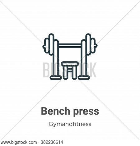 Bench press icon isolated on white background from gym and fitness collection. Bench press icon tren