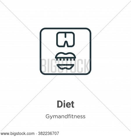 Diet icon isolated on white background from gym and fitness collection. Diet icon trendy and modern