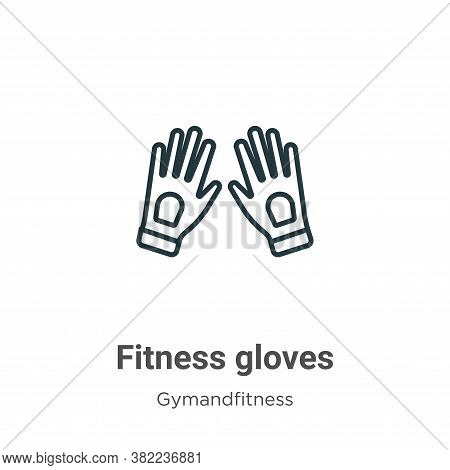 Fitness gloves icon isolated on white background from gym and fitness collection. Fitness gloves ico