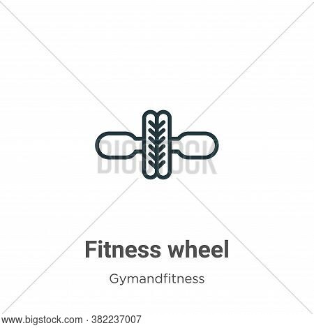 Fitness wheel icon isolated on white background from gym and fitness collection. Fitness wheel icon