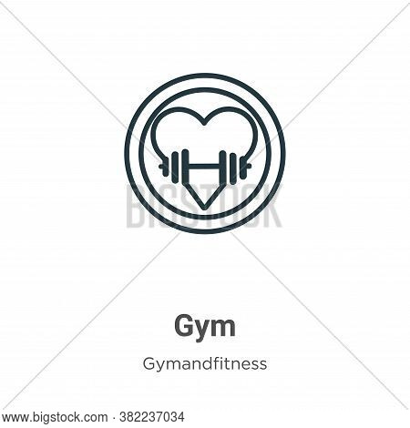 Gym icon isolated on white background from gym and fitness collection. Gym icon trendy and modern Gy