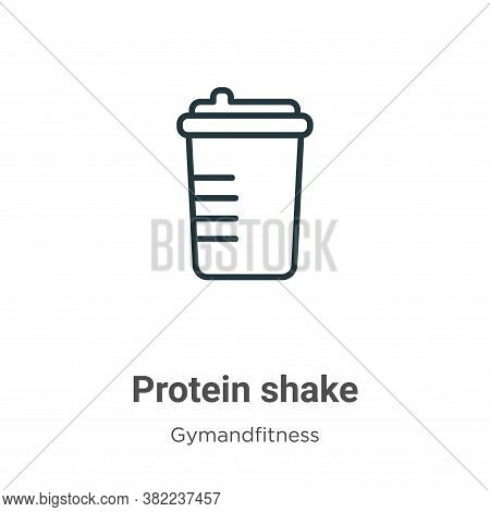 Protein shake icon isolated on white background from gymandfitness collection. Protein shake icon tr