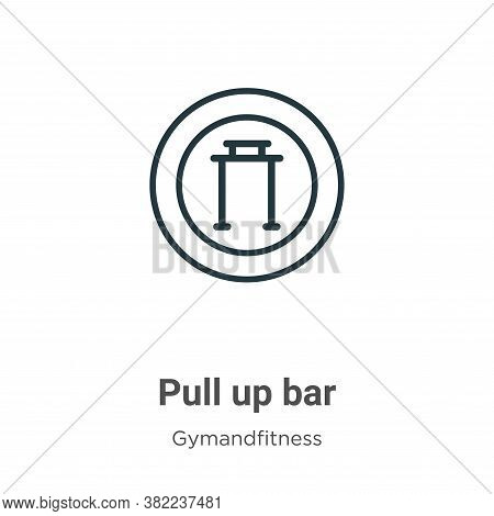Pull up bar icon isolated on white background from gymandfitness collection. Pull up bar icon trendy