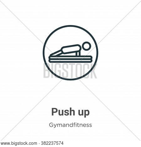 Push up icon isolated on white background from gymandfitness collection. Push up icon trendy and mod