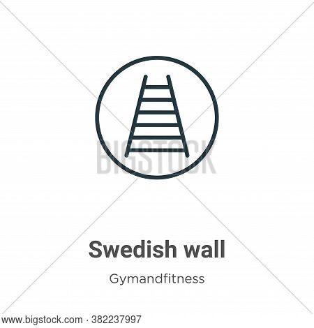 Swedish wall icon isolated on white background from gymandfitness collection. Swedish wall icon tren