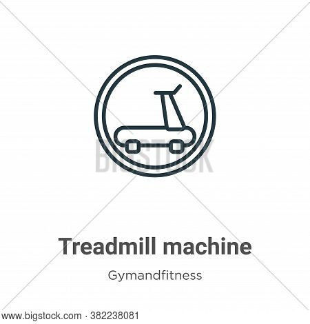 Treadmill machine icon isolated on white background from gymandfitness collection. Treadmill machine