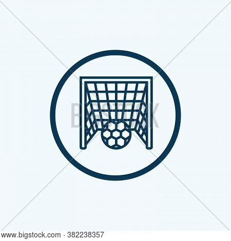 Football Goal Icon Isolated On White Background From Sports Collection. Football Goal Icon Trendy An