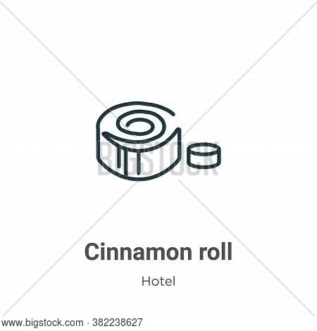 Cinnamon roll icon isolated on white background from restaurant collection. Cinnamon roll icon trend