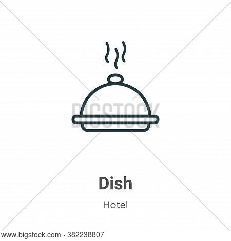 Dish icon isolated on white background from restaurant collection. Dish icon trendy and modern Dish