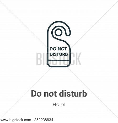Do not disturb icon isolated on white background from hotel collection. Do not disturb icon trendy a