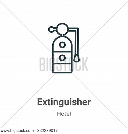 Extinguisher icon isolated on white background from hotel collection. Extinguisher icon trendy and m