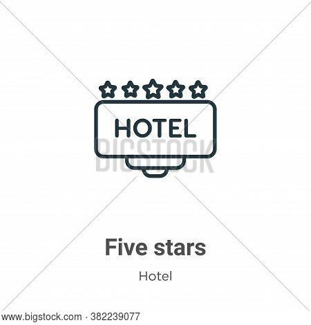 Five stars icon isolated on white background from hotel collection. Five stars icon trendy and moder