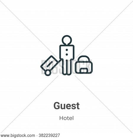 Guest icon isolated on white background from hotel collection. Guest icon trendy and modern Guest sy