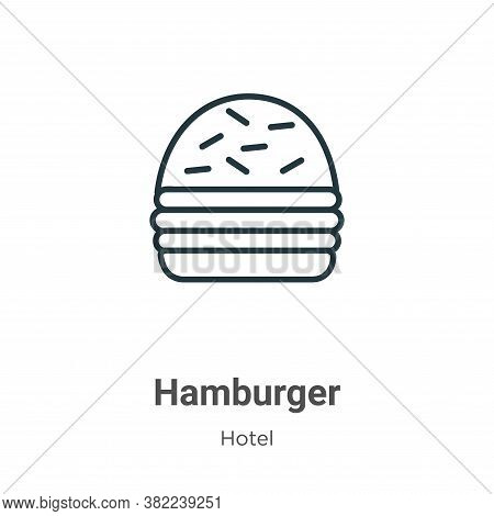 Hamburger icon isolated on white background from restaurant collection. Hamburger icon trendy and mo