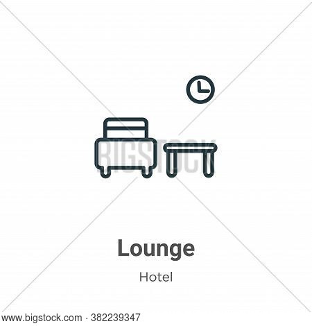Lounge icon isolated on white background from hotel collection. Lounge icon trendy and modern Lounge
