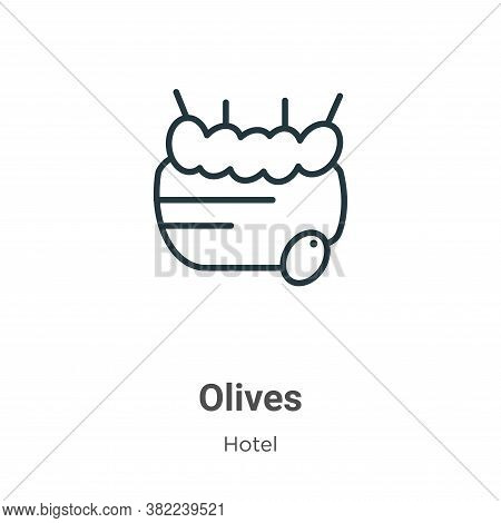 Olives icon isolated on white background from restaurant collection. Olives icon trendy and modern O