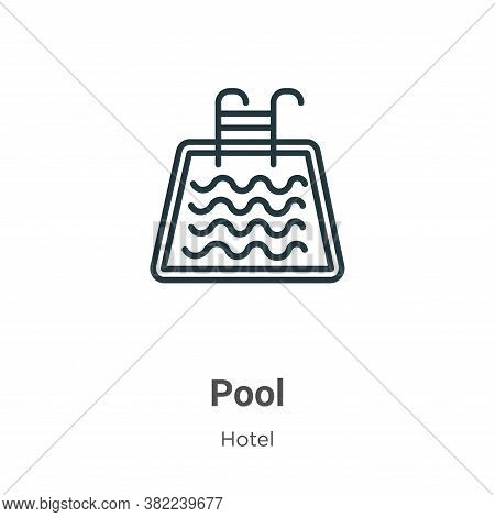 Pool icon isolated on white background from hotel collection. Pool icon trendy and modern Pool symbo