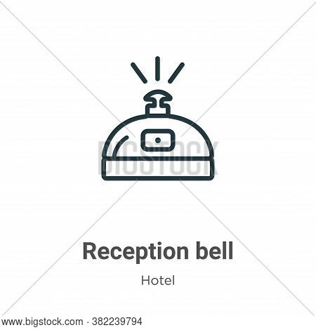 Reception bell icon isolated on white background from hotel collection. Reception bell icon trendy a