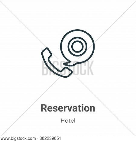 Reservation icon isolated on white background from restaurant collection. Reservation icon trendy an