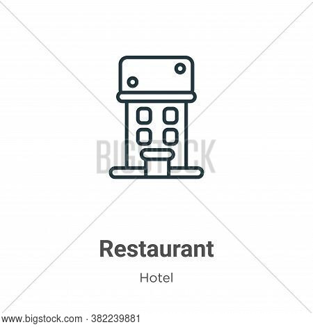 Restaurant icon isolated on white background from restaurant collection. Restaurant icon trendy and