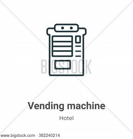 Vending machine icon isolated on white background from hotel collection. Vending machine icon trendy