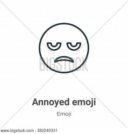 Annoyed emoji icon isolated on white background from emoji collection. Annoyed emoji icon trendy and