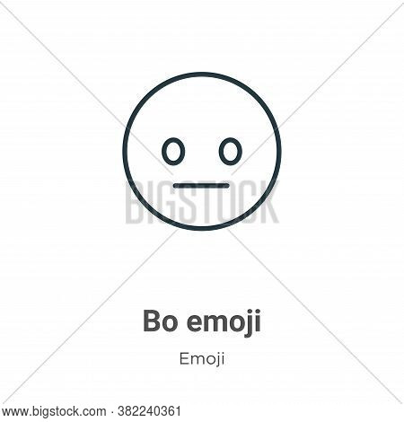 Bored emoji icon isolated on white background from emoji collection. Bored emoji icon trendy and mod