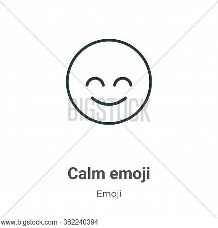 Calm emoji icon isolated on white background from emoji collection. Calm emoji icon trendy and moder