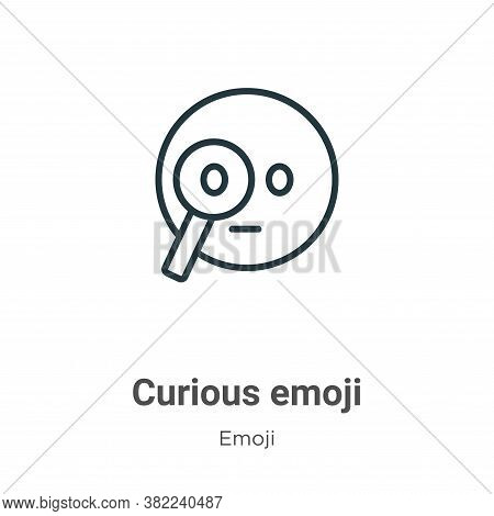 Curious emoji icon isolated on white background from emoji collection. Curious emoji icon trendy and