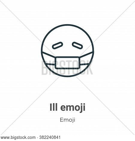 Ill emoji icon isolated on white background from emoji collection. Ill emoji icon trendy and modern