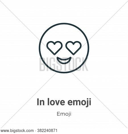 In love emoji icon isolated on white background from emoji collection. In love emoji icon trendy and