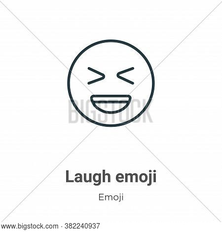 Laugh emoji icon isolated on white background from emoji collection. Laugh emoji icon trendy and mod