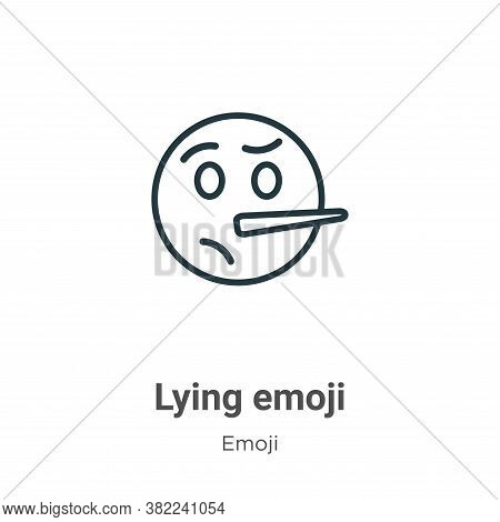 Lying emoji icon isolated on white background from emoji collection. Lying emoji icon trendy and mod