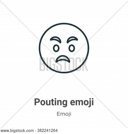 Pouting emoji icon isolated on white background from emoji collection. Pouting emoji icon trendy and