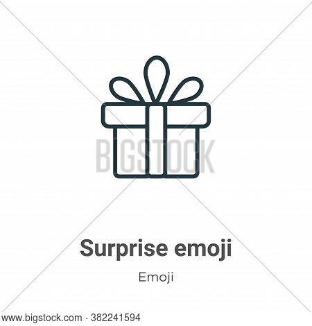 Surprise emoji icon isolated on white background from emoji collection. Surprise emoji icon trendy a