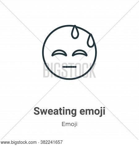 Sweating emoji icon isolated on white background from emoji collection. Sweating emoji icon trendy a