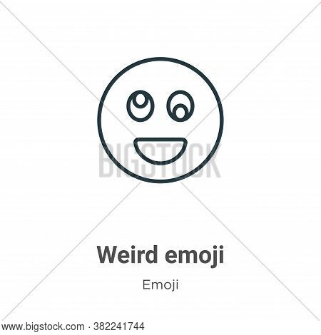 Weird emoji icon isolated on white background from emoji collection. Weird emoji icon trendy and mod