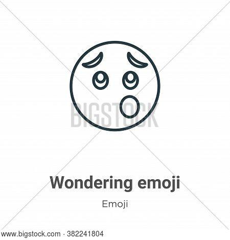 Wondering emoji icon isolated on white background from emoji collection. Wondering emoji icon trendy