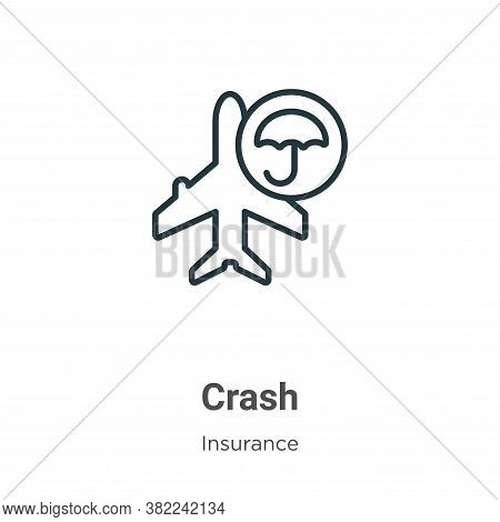 Crash icon isolated on white background from insurance collection. Crash icon trendy and modern Cras
