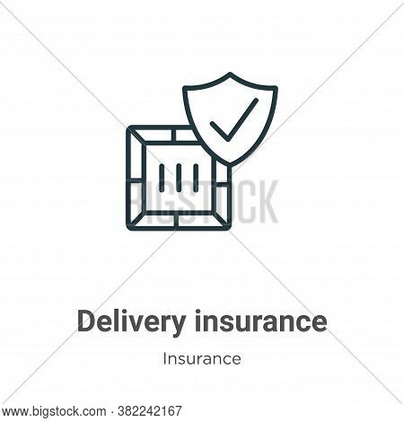 Delivery insurance icon isolated on white background from insurance collection. Delivery insurance i